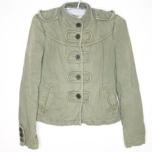 Tulle Button Up Utility Lined Jacket XS
